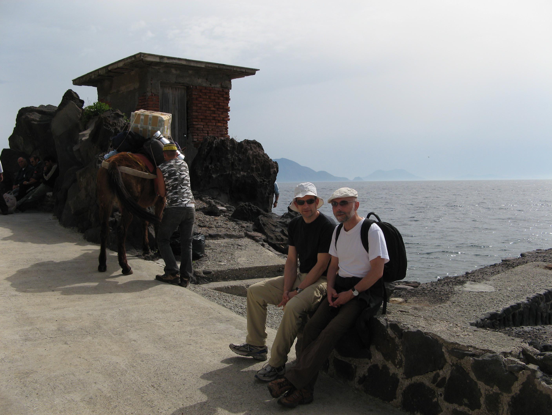 Alicudi-Insel- Ankunft-Esel