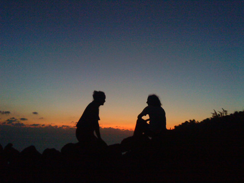 Alicudi-Insel- Gespräch