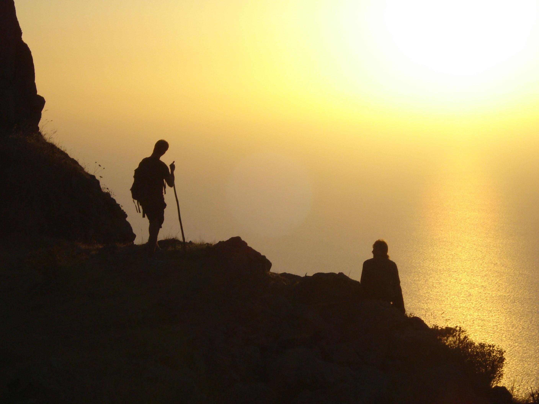 Alicudi-Insel-Sonnenuntergang