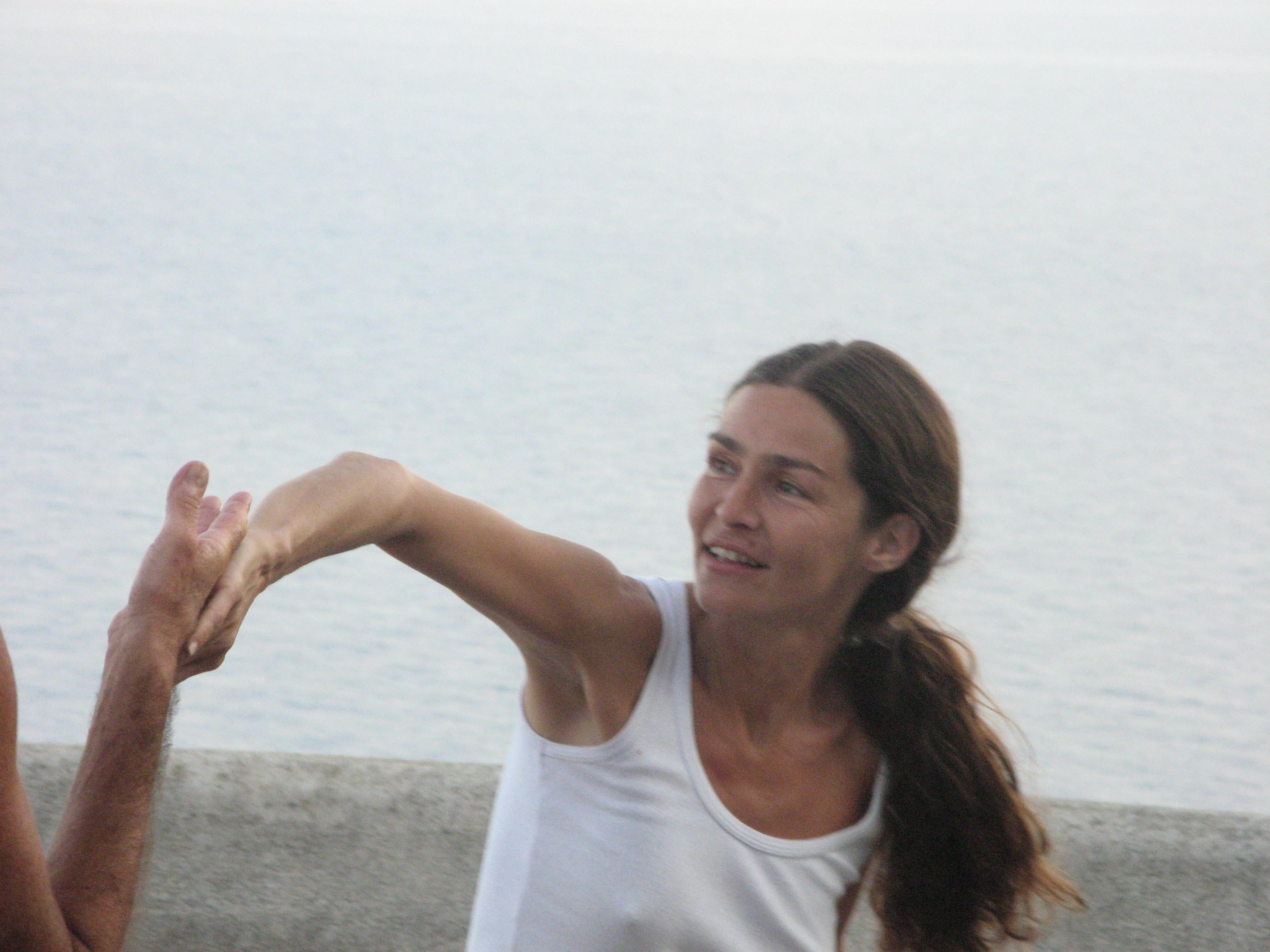 Alicudi-Insel-Tai chi push hands 3