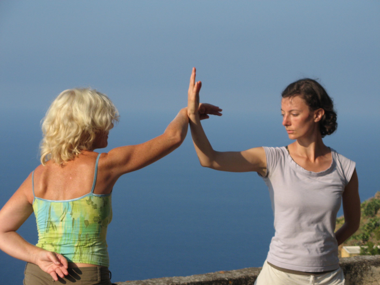 Alicudi-Insel-Tai chi push hands 6