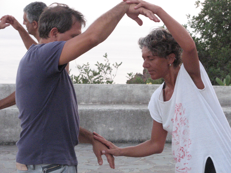 Alicudi.Insel-Tai chi push hands 8